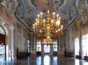 The ballroom of Ca' Rezzonico