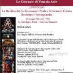 collaboarazioni di Venezia Arte per la Vetrata della chiesa dei Santi Giovanni e Paolo