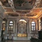 La ricca decorazione della Sala del Capitolo - Scuola Grande dei Carmini