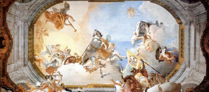 Allegoria Nuziale dipinta da Giambattista Tiepolo per celebrare la famiglia Rezzonico